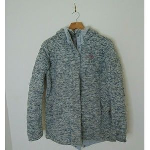 The North Face Small Gray Full Zip Quilted Jacket